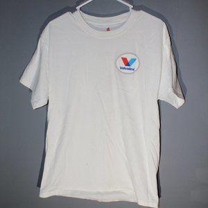 Vavoline Short sleeve white tee Mens Large
